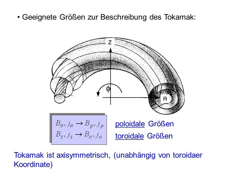 Geeignete Größen zur Beschreibung des Tokamak:
