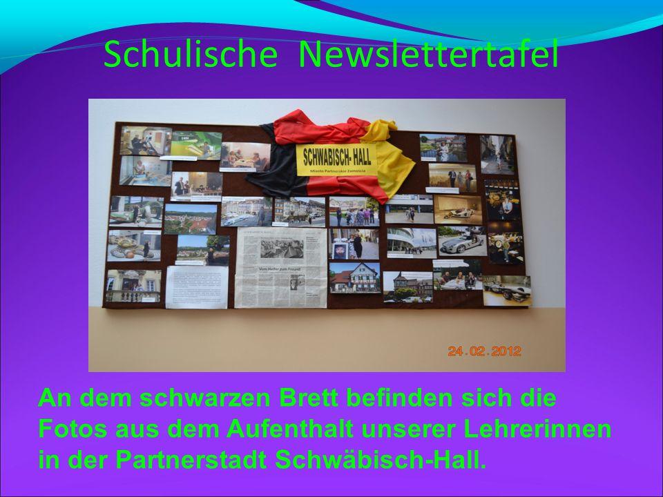 Schulische Newslettertafel