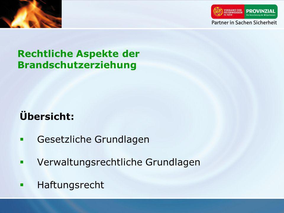 Rechtliche Aspekte der Brandschutzerziehung