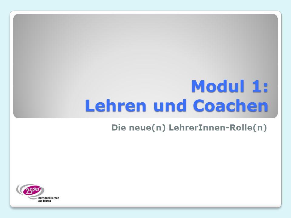Modul 1: Lehren und Coachen
