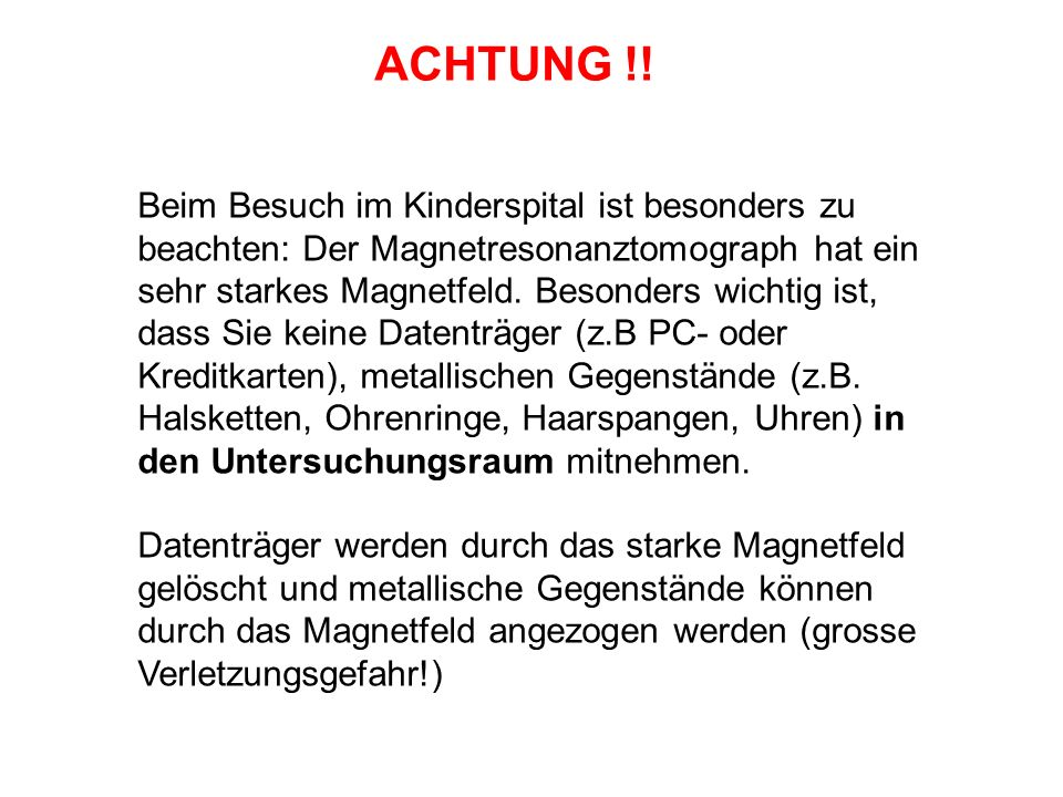 ACHTUNG !!