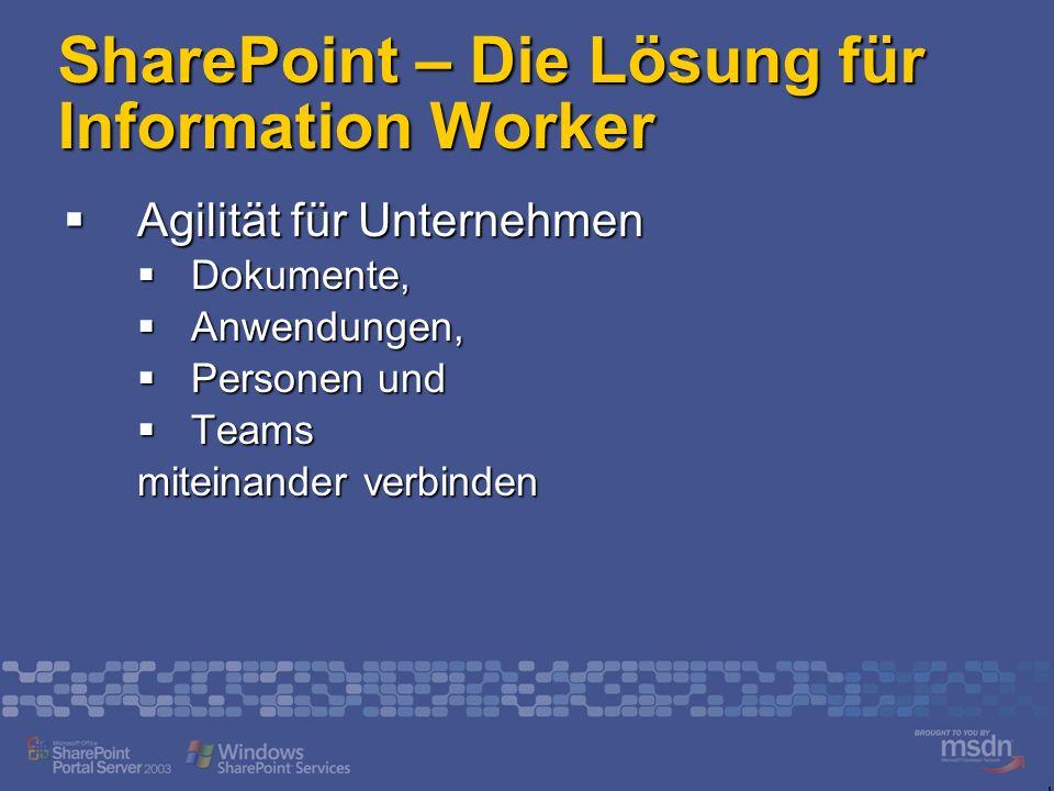 SharePoint – Die Lösung für Information Worker