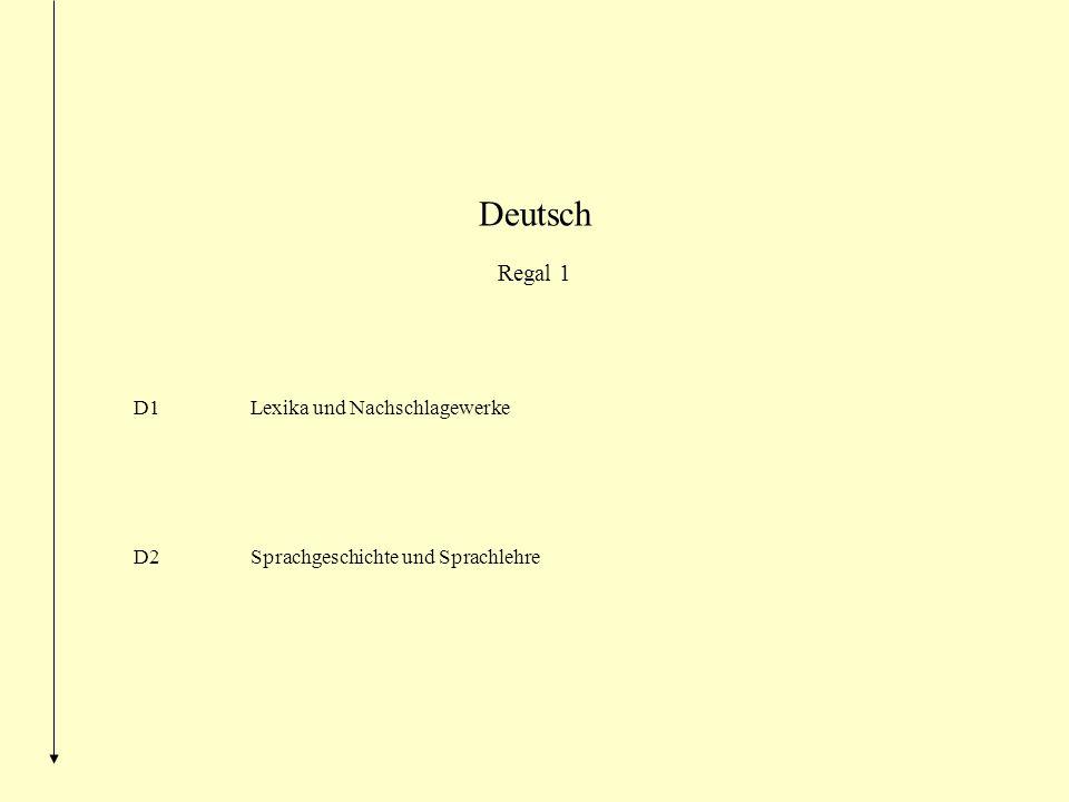 Deutsch Regal 1 D1 Lexika und Nachschlagewerke D2