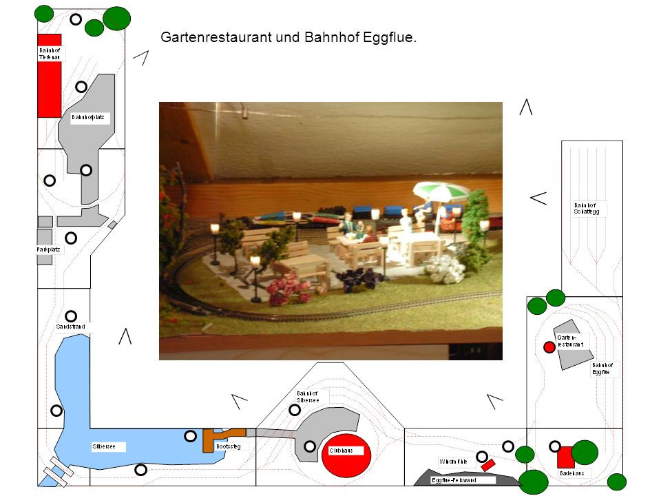 Gartenrestaurant und Bahnhof Eggflue.