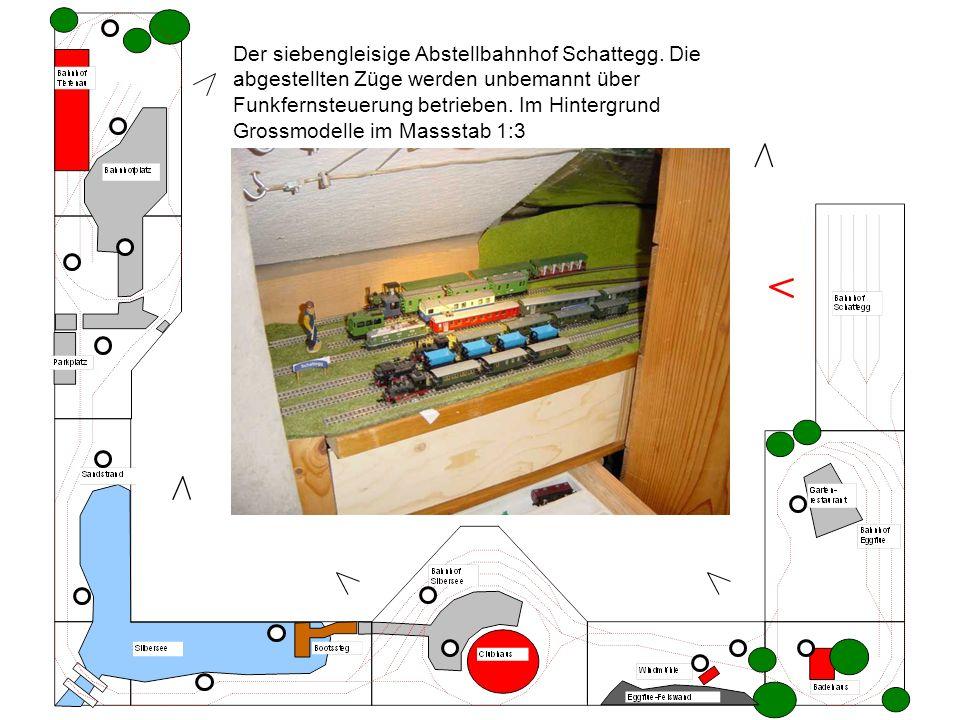 Der siebengleisige Abstellbahnhof Schattegg