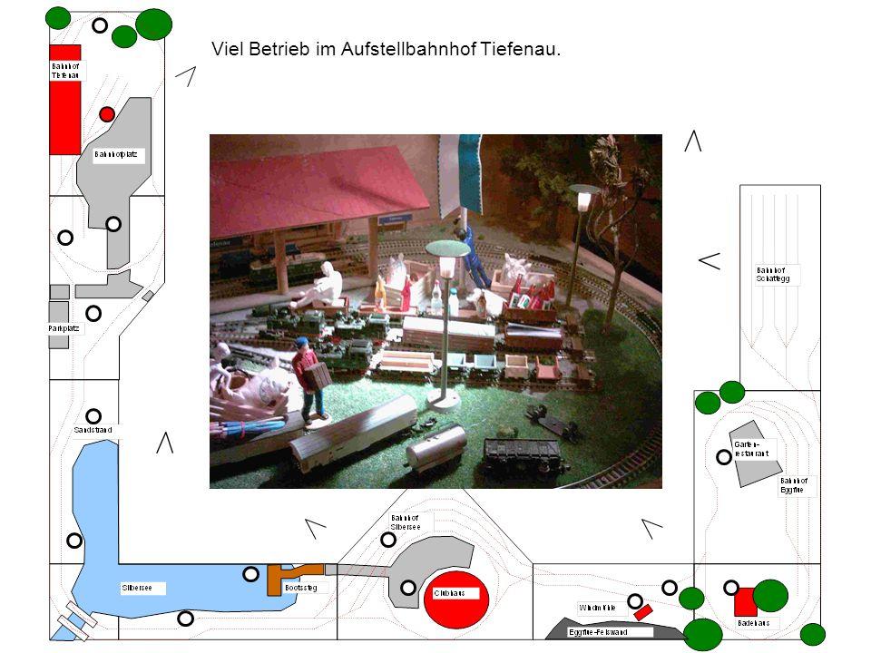 Viel Betrieb im Aufstellbahnhof Tiefenau.