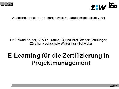 E-Learning für die Zertifizierung in Projektmanagement