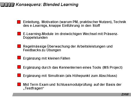 Konsequenz: Blended Learning