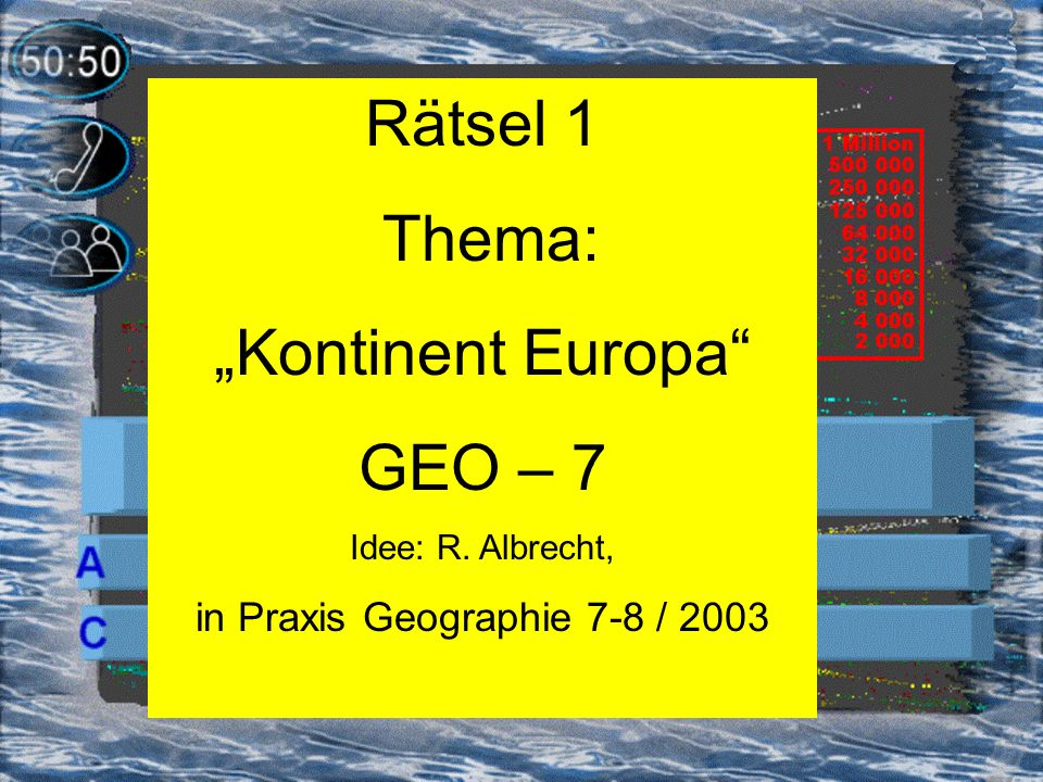 in Praxis Geographie 7-8 / 2003