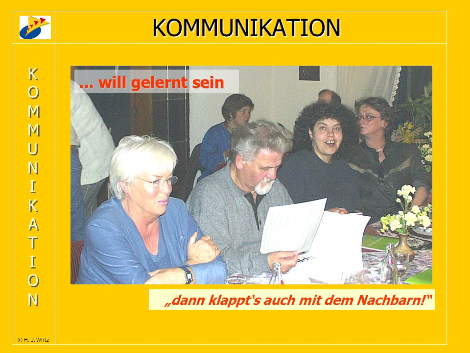 KOMMUNIKATION ... will gelernt sein