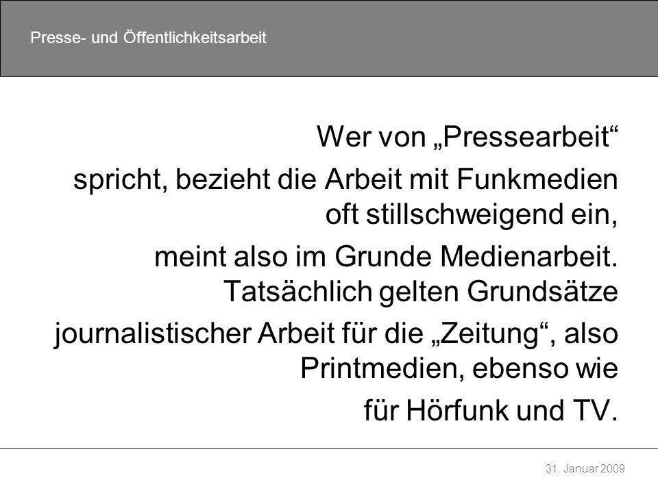 """Wer von """"Pressearbeit"""