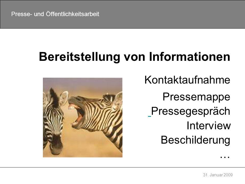 Bereitstellung von Informationen