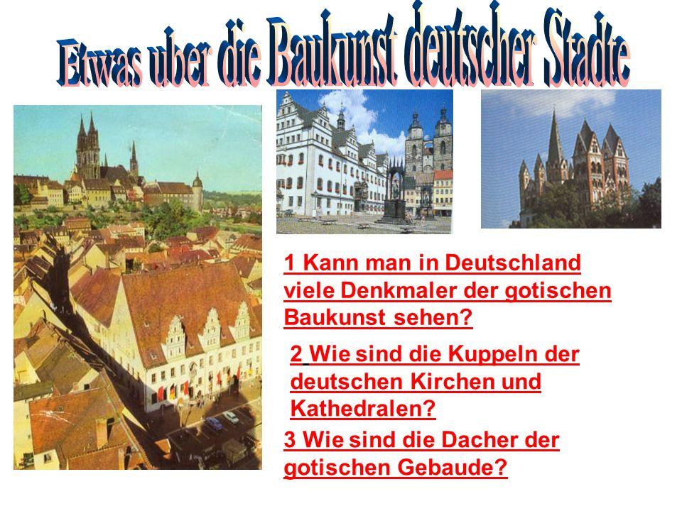 Etwas uber die Baukunst deutscher Stadte