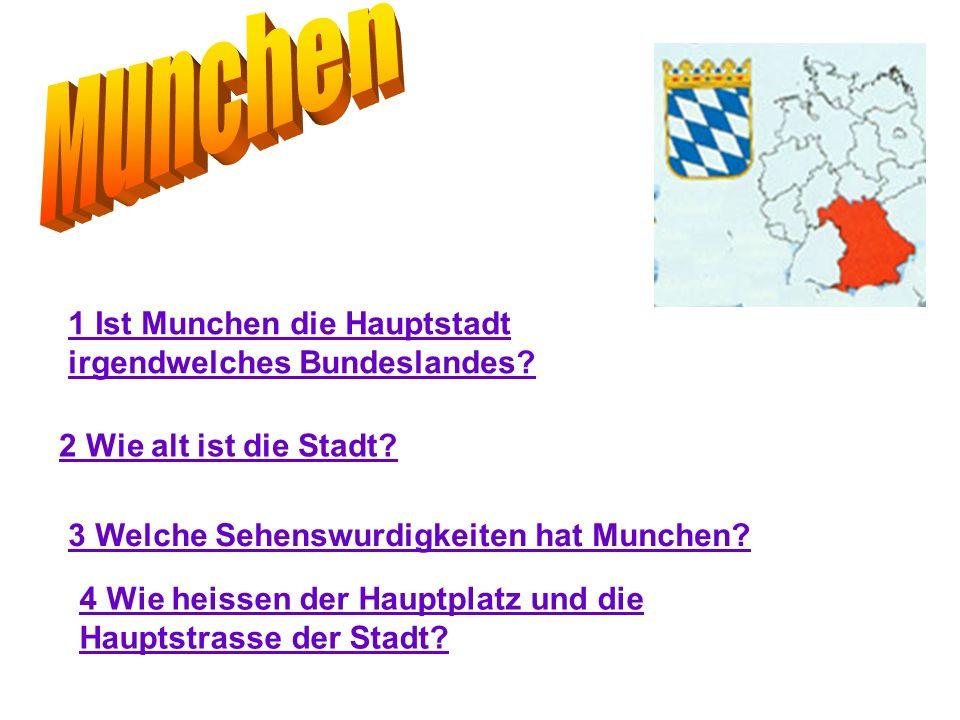 мunchen 1 Ist Munchen die Hauptstadt irgendwelches Bundeslandes