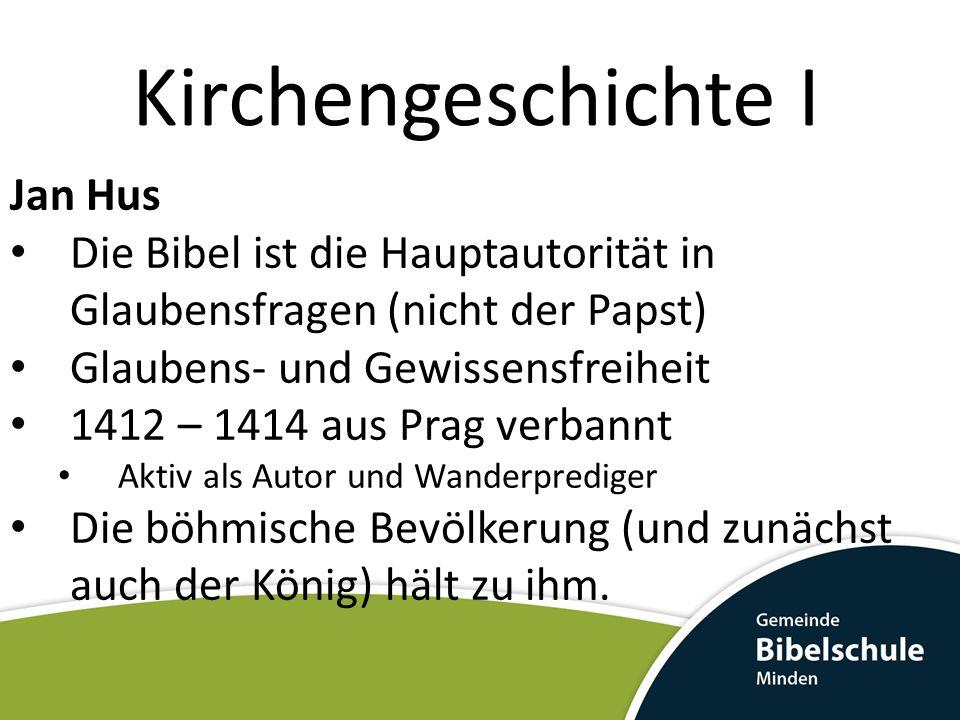 Kirchengeschichte I Jan Hus