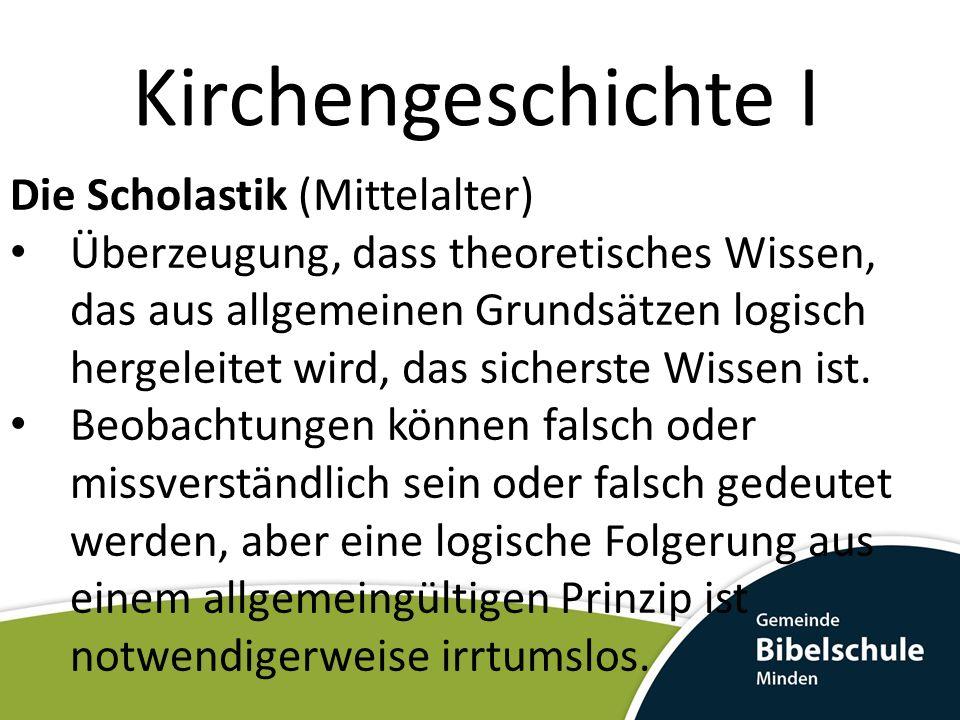 Kirchengeschichte I Die Scholastik (Mittelalter)