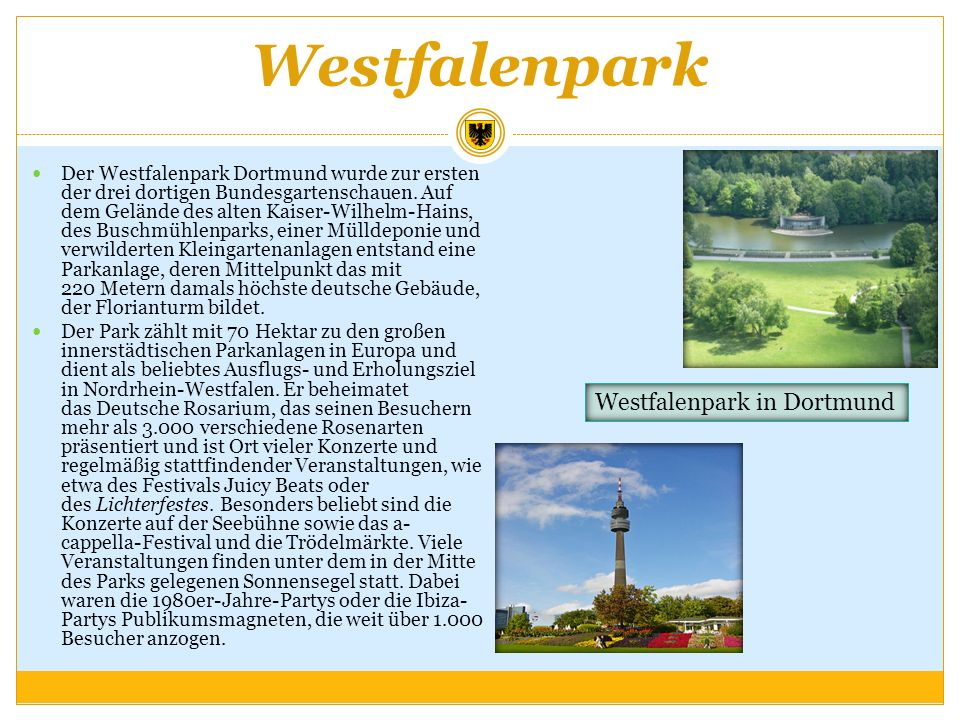 Westfalenpark Westfalenpark in Dortmund