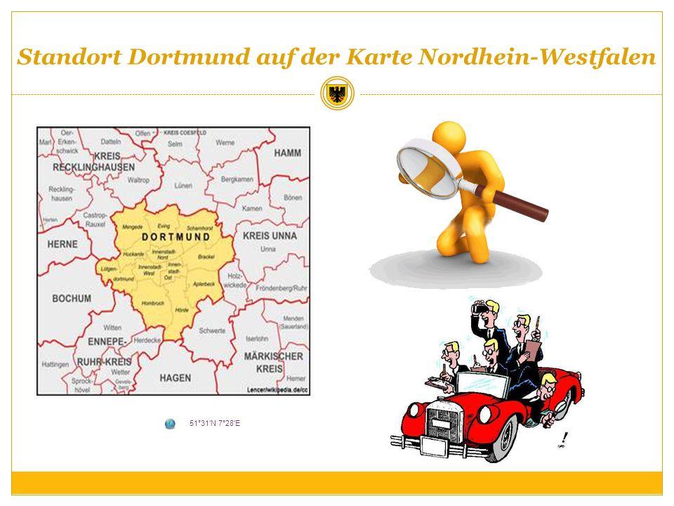 Standort Dortmund auf der Karte Nordhein-Westfalen