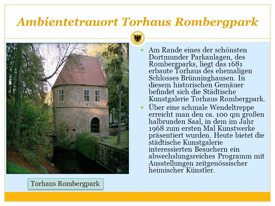 Ambientetrauort Torhaus Rombergpark