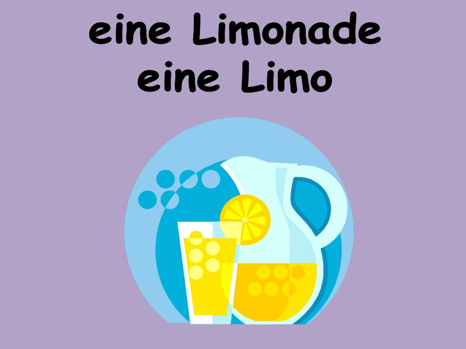 eine Limonade eine Limo