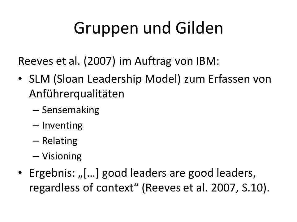 Gruppen und Gilden Reeves et al. (2007) im Auftrag von IBM: