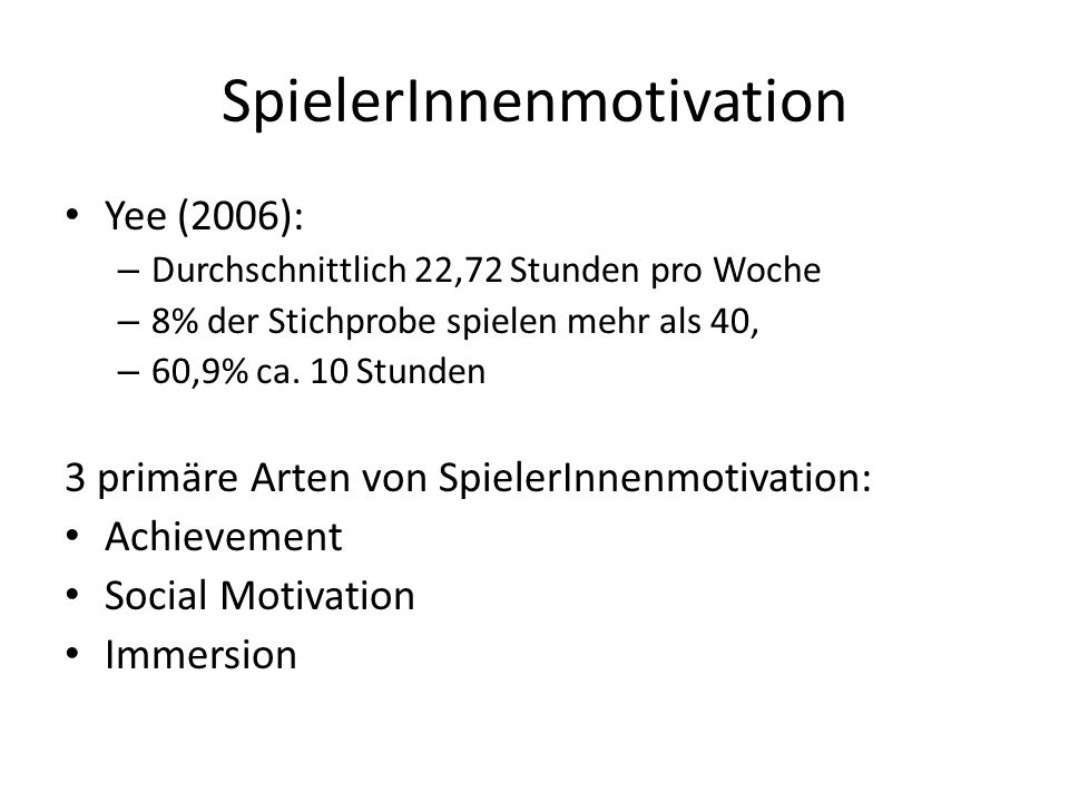 SpielerInnenmotivation