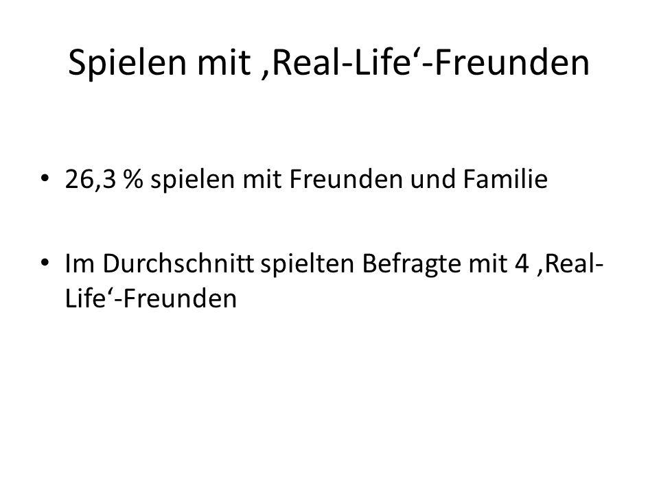 Spielen mit 'Real-Life'-Freunden