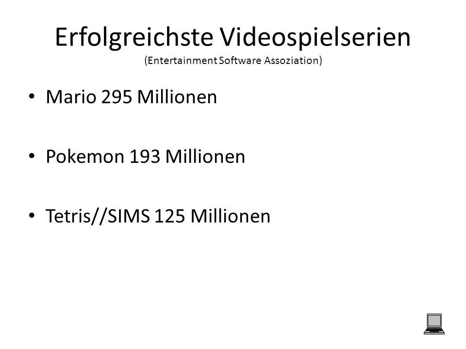 Erfolgreichste Videospielserien (Entertainment Software Assoziation)