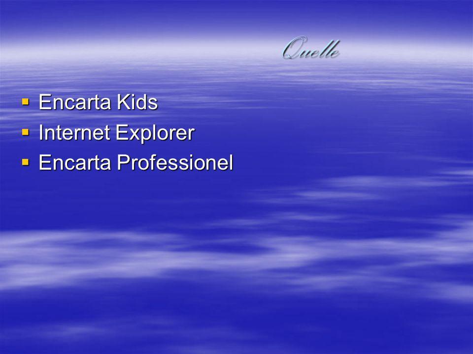 Quelle Encarta Kids Internet Explorer Encarta Professionel