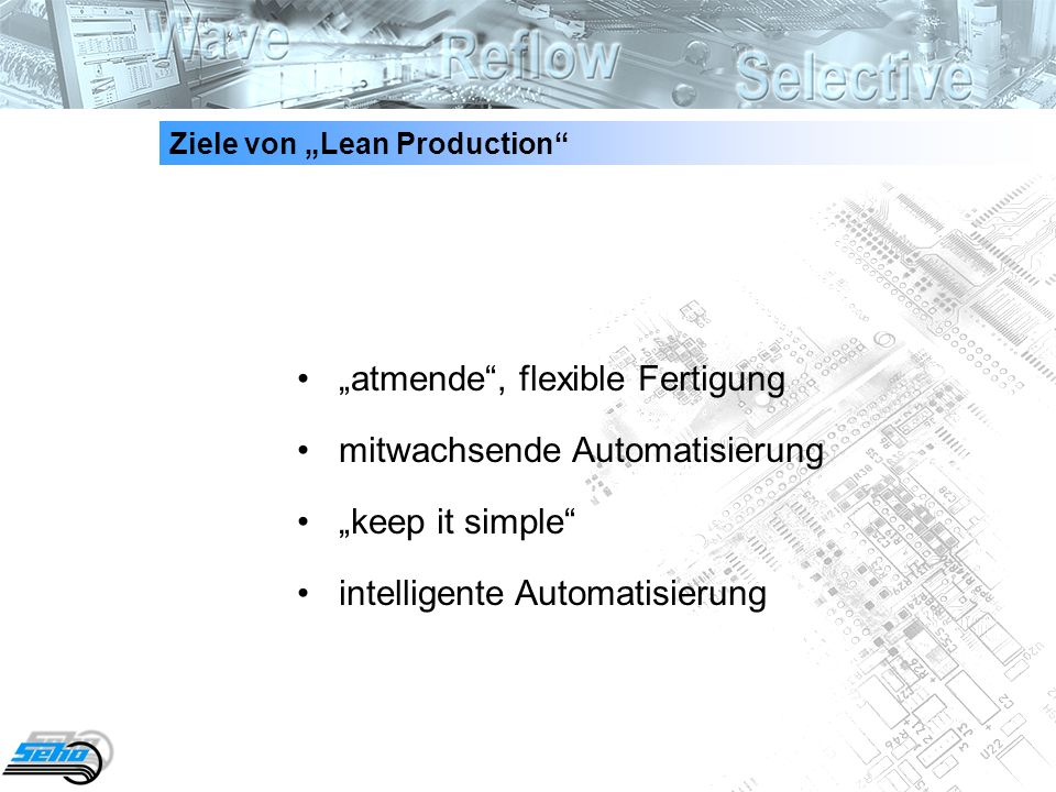 "Ziele von ""Lean Production"