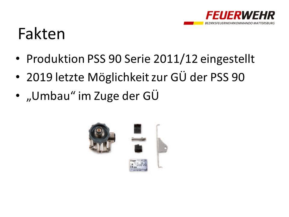 Fakten Produktion PSS 90 Serie 2011/12 eingestellt