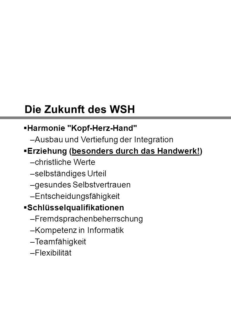 Die Zukunft des WSH Harmonie Kopf-Herz-Hand