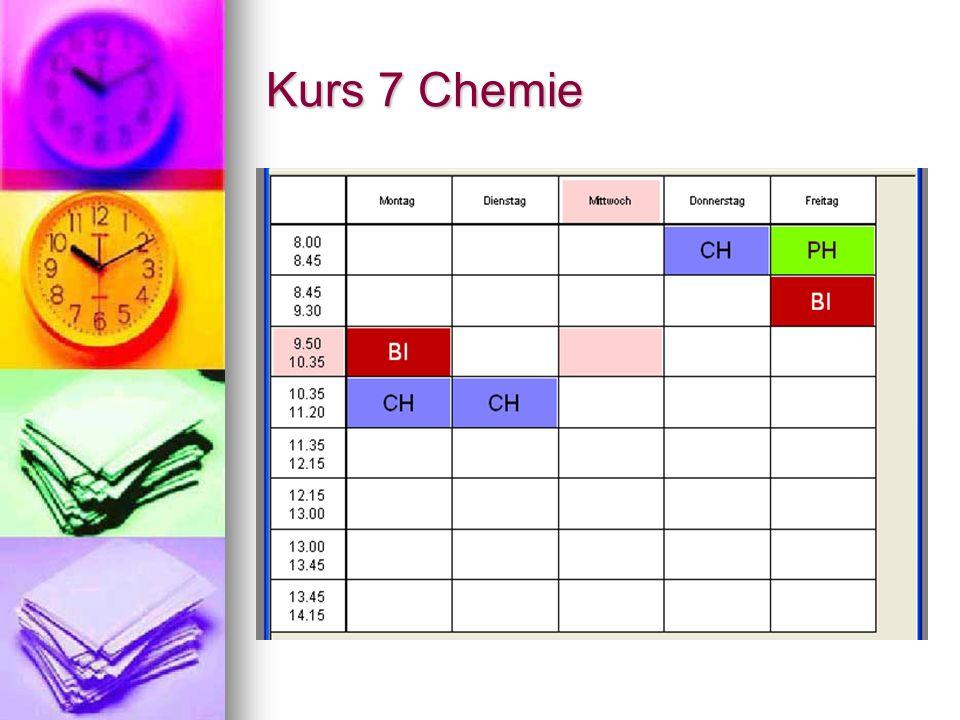 Kurs 7 Chemie