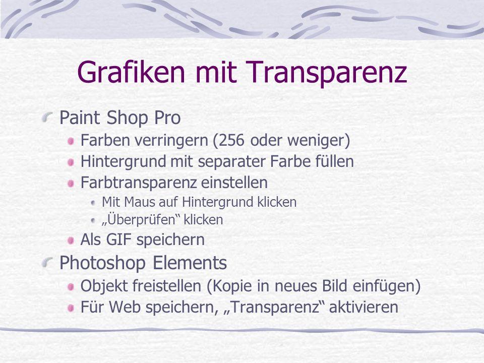 Grafiken mit Transparenz