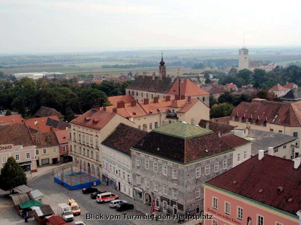 Blick vom Turm auf den Hauptplatz