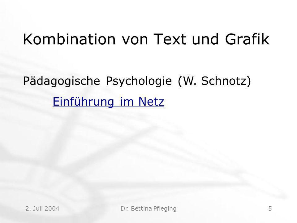 Kombination von Text und Grafik