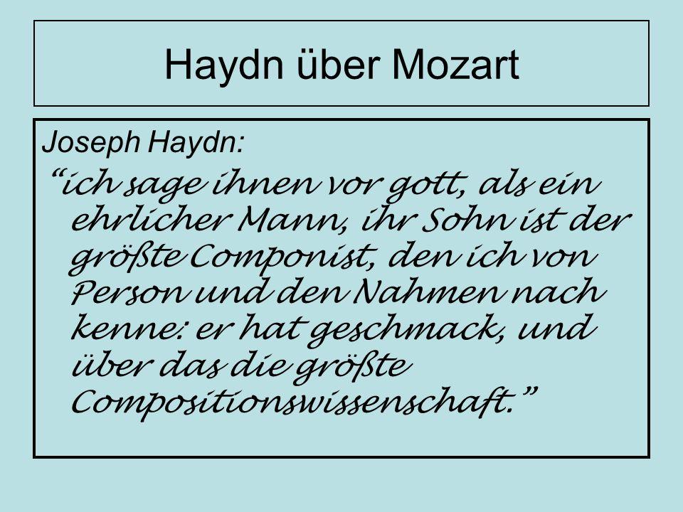 Haydn über Mozart Joseph Haydn: