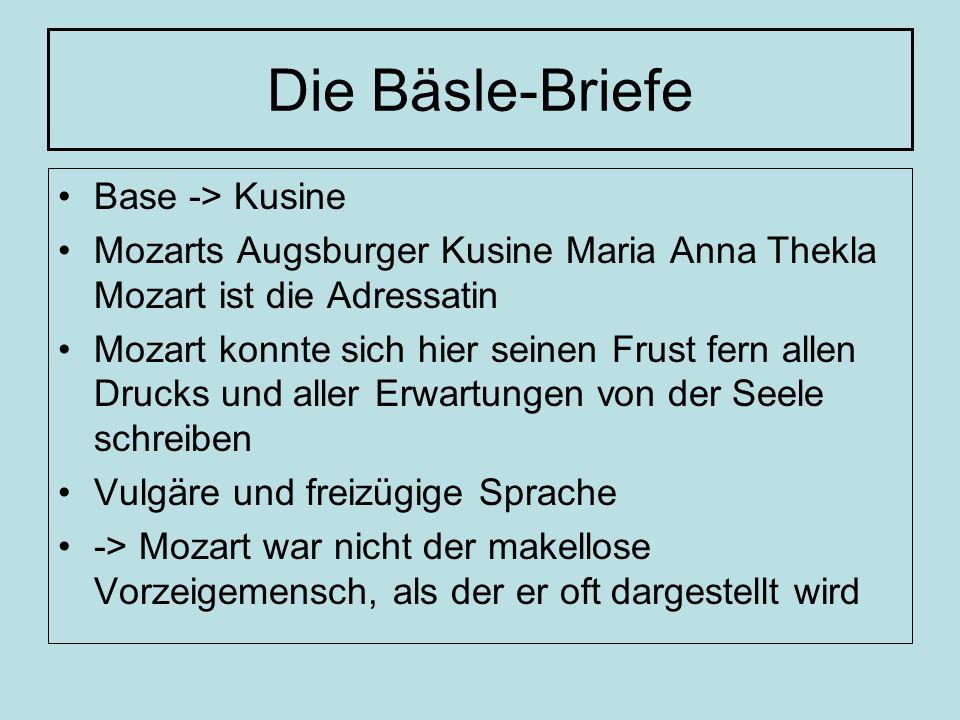 Die Bäsle-Briefe Base -> Kusine