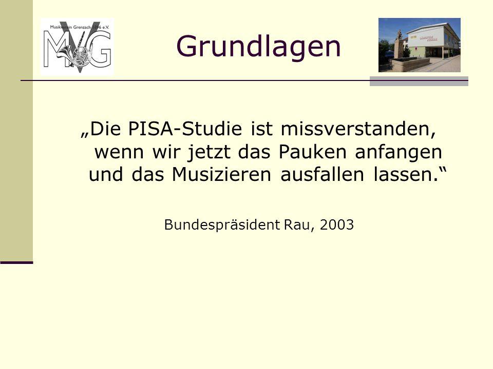 """Grundlagen """"Die PISA-Studie ist missverstanden, wenn wir jetzt das Pauken anfangen und das Musizieren ausfallen lassen."""