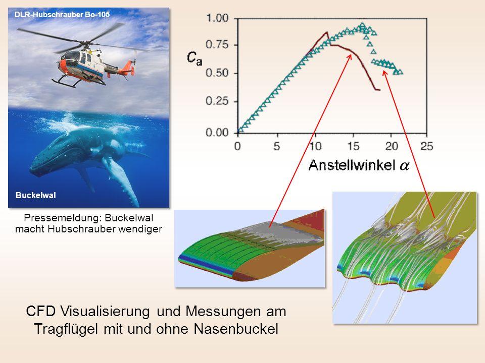 Pressemeldung: Buckelwal macht Hubschrauber wendiger