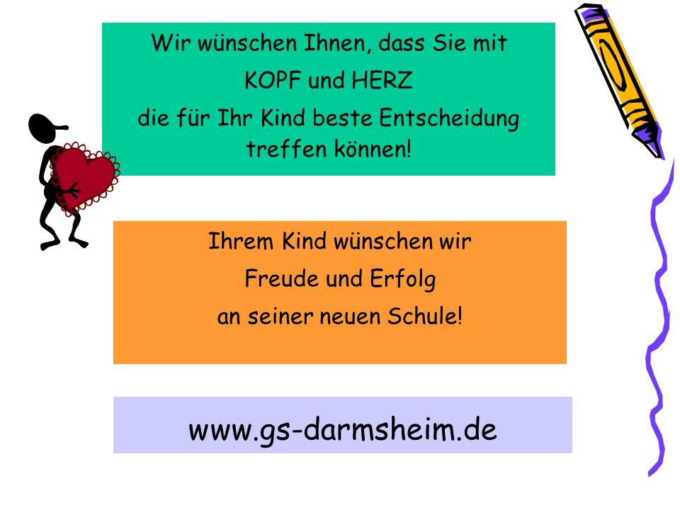 www.gs-darmsheim.de Wir wünschen Ihnen, dass Sie mit KOPF und HERZ