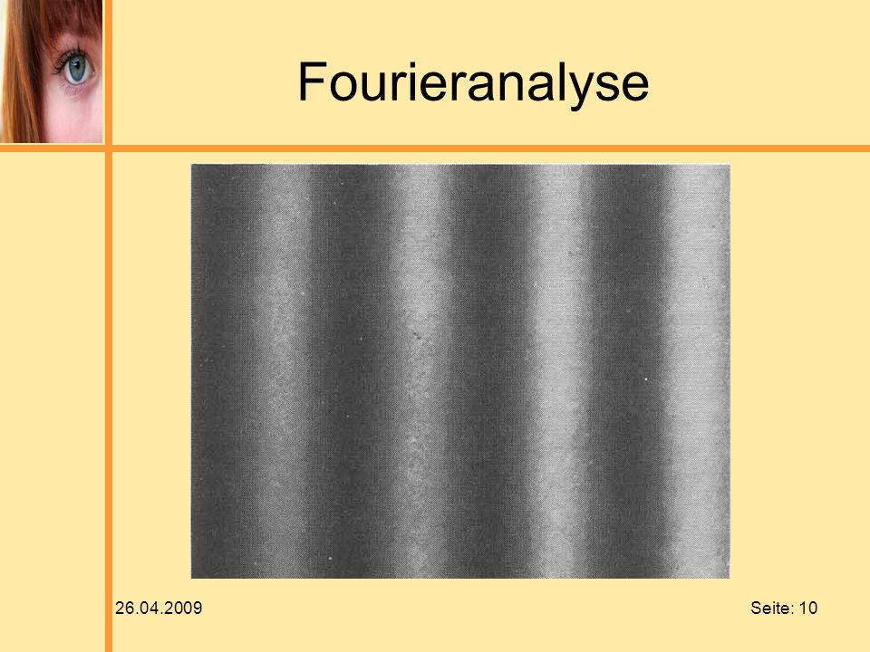 Fourieranalyse 26.04.2009