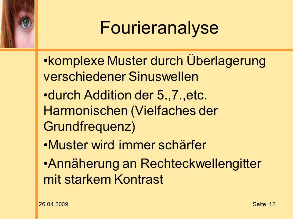 Fourieranalyse komplexe Muster durch Überlagerung verschiedener Sinuswellen.