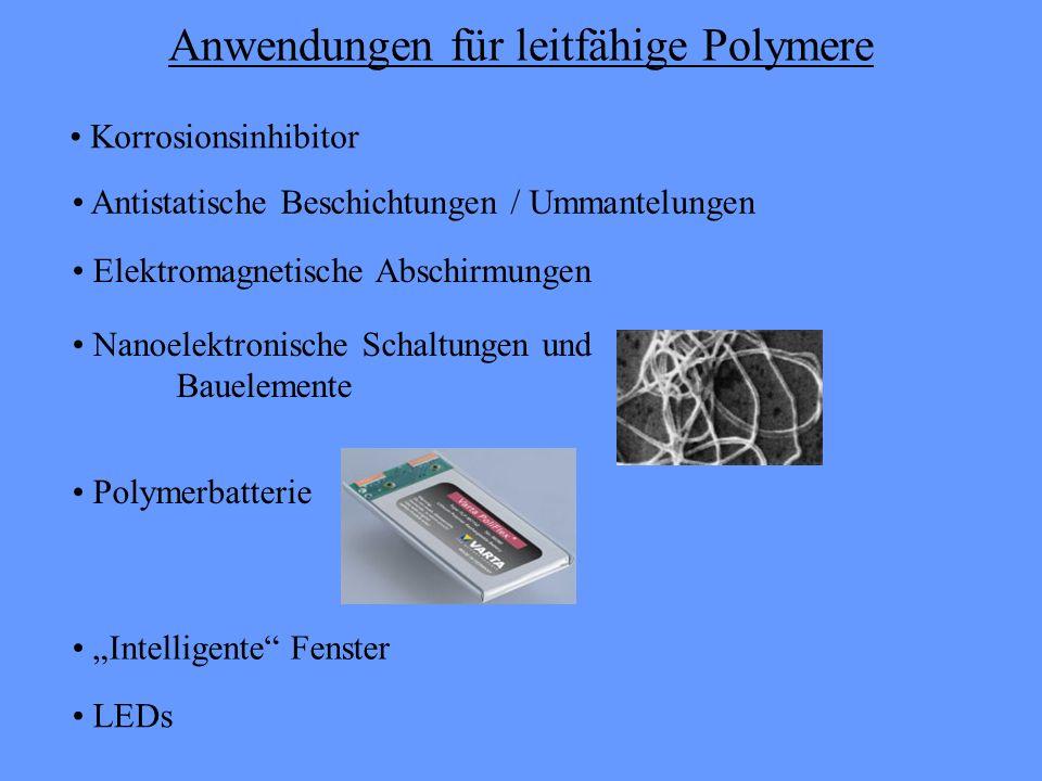 Anwendungen für leitfähige Polymere
