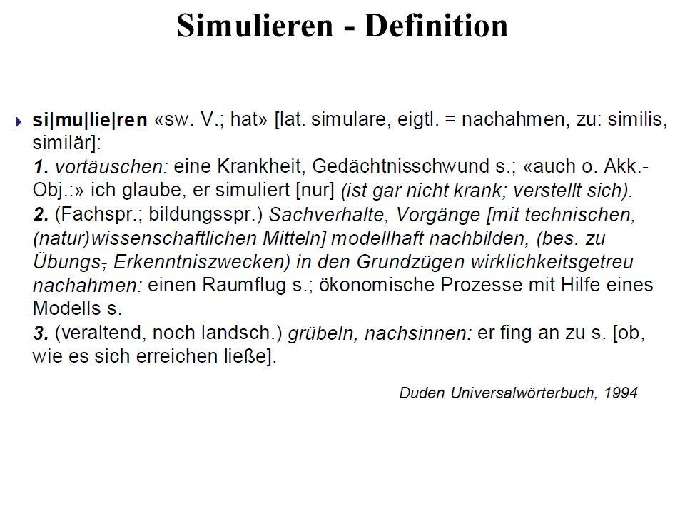 Simulieren - Definition