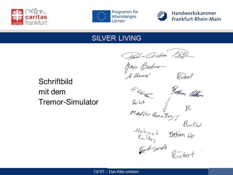 Schriftbild mit dem Tremor-Simulator