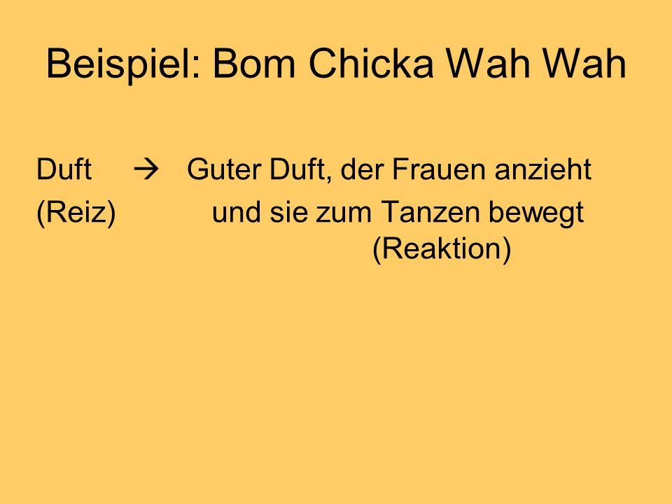 Beispiel: Bom Chicka Wah Wah