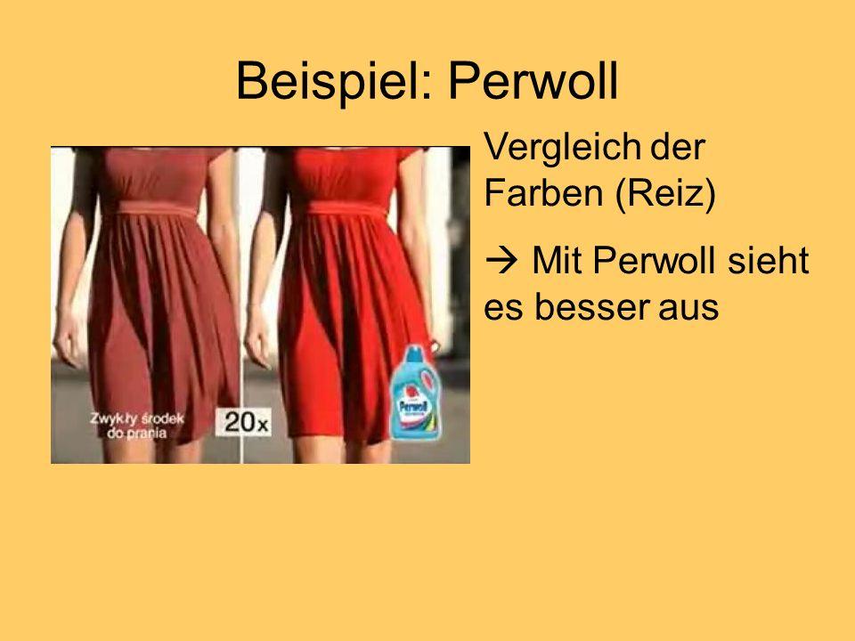 Beispiel: Perwoll Vergleich der Farben (Reiz)
