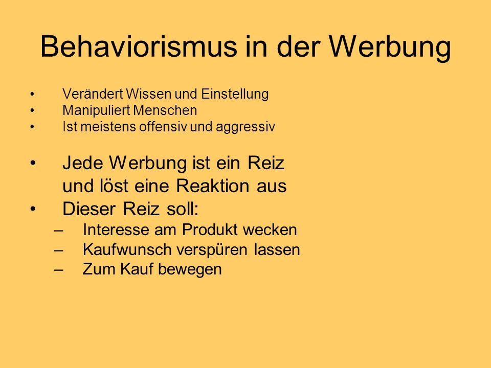 Behaviorismus in der Werbung