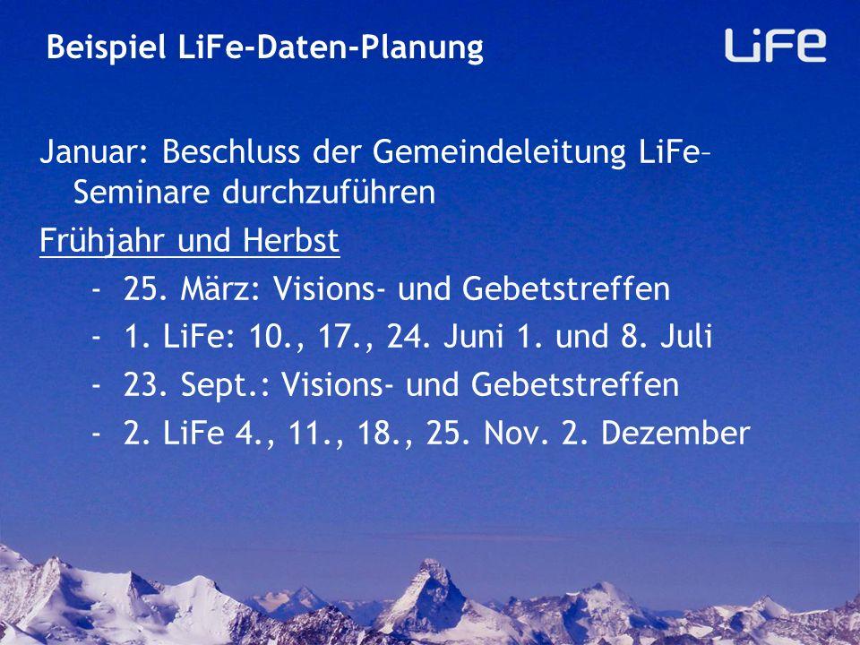 Beispiel LiFe-Daten-Planung